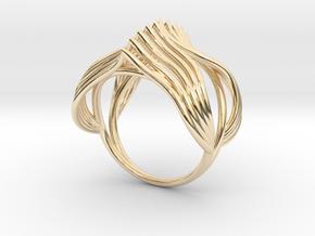 Ring The Knuckle /size 12HK Model / 6US (16.9mm) in 14k Gold Plated Brass