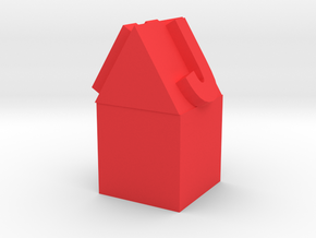 Pencil Topper House  in Red Processed Versatile Plastic: Small
