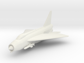 English Electric Lightning (with Firestreak) in White Natural Versatile Plastic: 1:200