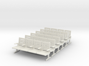 Modern Seat X 6. - 1 To 64 Scale in White Strong & Flexible