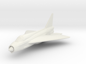 English Electric Lightning T.4/T.5 in White Natural Versatile Plastic: 1:200