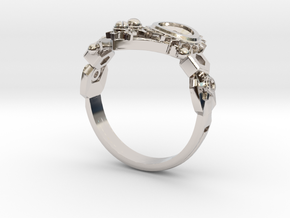 Mech Heart Ring in Platinum: 6 / 51.5