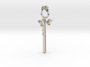 Rose Hair Pin in Platinum