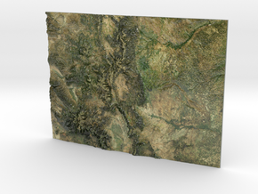 Colorado Map in Glossy Full Color Sandstone