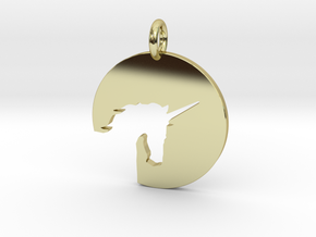 The Unicorn in 18k Gold Plated Brass