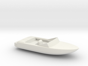 Pleasure Boat - HOscale in White Natural Versatile Plastic