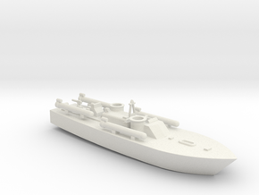 1/285 Scale Elco 80 Ft PT Boat in White Strong & Flexible