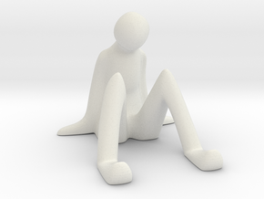 Mobile Dock - Sitting Man in White Natural Versatile Plastic