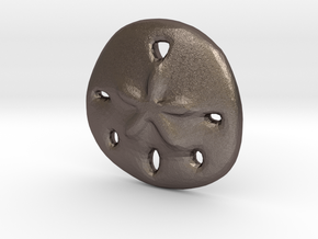 Sandollar Charm in Polished Bronzed Silver Steel