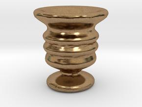 Tiny Vase in Natural Brass