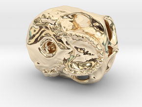 Skull in 14K Yellow Gold