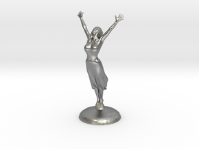 Joyful Girl in Raw Silver: Medium