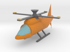 Helicopter With Moving Rotor in Full Color Sandstone