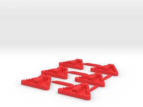 Star Wars X-Wing Compatible Stress Tokens in Red Processed Versatile Plastic