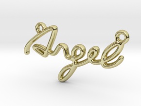 ANGEL Script First Name Pendant in 18k Gold Plated Brass