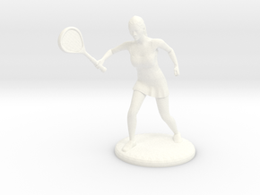 Tennis Girl in White Strong & Flexible Polished