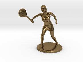 Tennis Girl in Natural Bronze