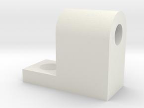 Archimedes Drill Holder in White Natural Versatile Plastic