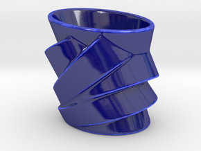 Cubist Cup in Gloss Cobalt Blue Porcelain
