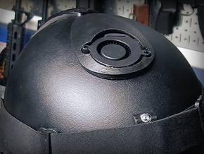 Cyclone Mike Helmet Fan Cover in Black Strong & Flexible