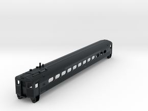 N Scale Budd Silverliner PRR Body Shell in Black Hi-Def Acrylate