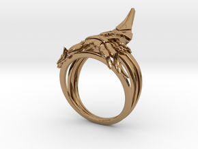 Reaper Ring in Polished Brass: 12 / 66.5
