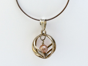 Spherical Loop Pendant in Polished Silver