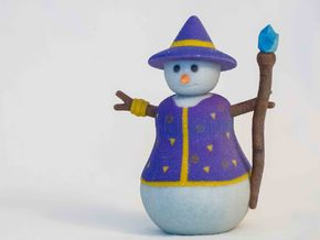 Snowman Sorcerer in Full Color Sandstone