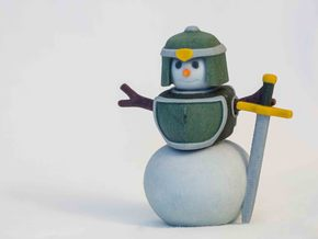 Snowman Warrior in Full Color Sandstone