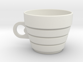 Museum_Cup in White Natural Versatile Plastic