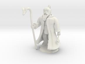 Dwarven Wizard in White Natural Versatile Plastic