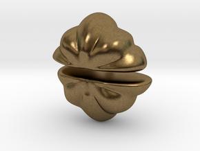 Fairytale Pumpkin Stud Earrings in Natural Bronze