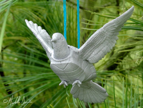 (Mythical) Turtle Dove Sculpture and Ornament in Aluminum