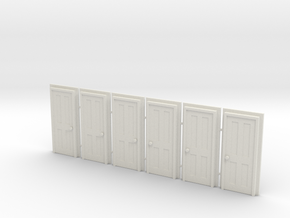 Door Type 5 - 760 X 2000 X 6 in White Natural Versatile Plastic: 1:76
