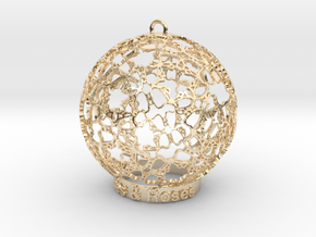 Roses & Roses Ornament in 14k Gold Plated Brass