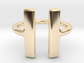 PAUSE Ring size 6 (M) in 14k Gold Plated Brass