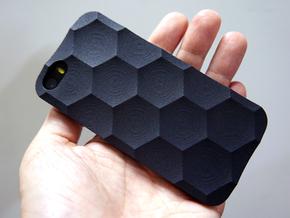 iphone SE/5S Case_Hexagon in Black Strong & Flexible