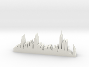 "NY Skyline 5"" Long in White Natural Versatile Plastic"