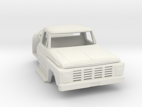 1/64 Early 1970's F600 / F700 Cab w/ Interior in White Strong & Flexible