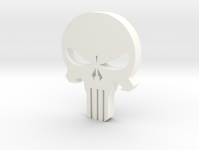 Punisher Skull in White Processed Versatile Plastic