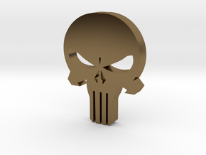 Punisher Skull in Polished Bronze
