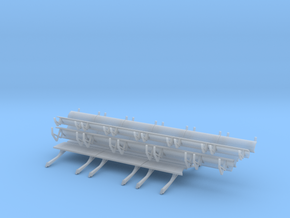 1/100 Scale 747 Leading Edge Flaps in Smoothest Fine Detail Plastic