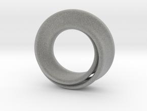 Mobius Strip in Metallic Plastic