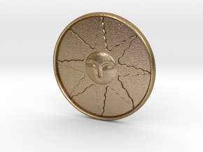 Sunlight Medal in Polished Gold Steel