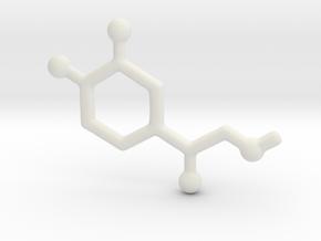Molecules - Adrenaline in White Natural Versatile Plastic