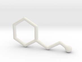 Molecules - Phenyletylamine in White Natural Versatile Plastic