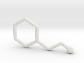 Molecules - Phenyletylamine in White Natural Versatile Plastic