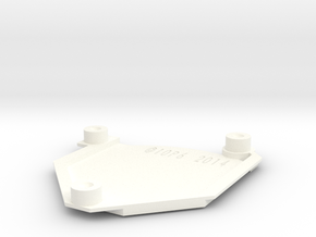 GDUSB COVER SCREWED (For External USB) in White Processed Versatile Plastic