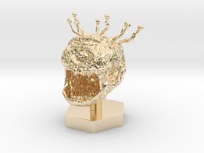 Beholder Token in 14k Gold Plated Brass: 1:50