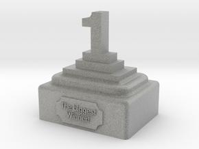 Trophy #1 in Metallic Plastic